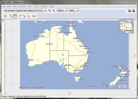 City Navigator Australia and New Zealand NT [ v.2012.30, Mapsource + IMG, 2011 ]