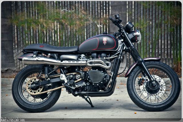 Мотоцикл Hawkized Triumph от Роланда Сэндса