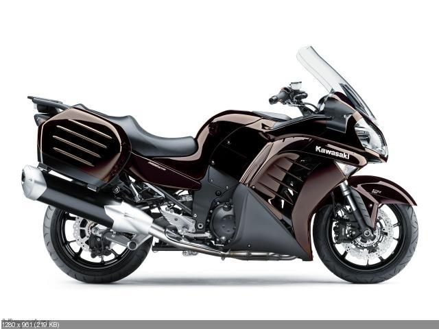 Анонс мотоцикла Kawasaki 1400 GTR 2012