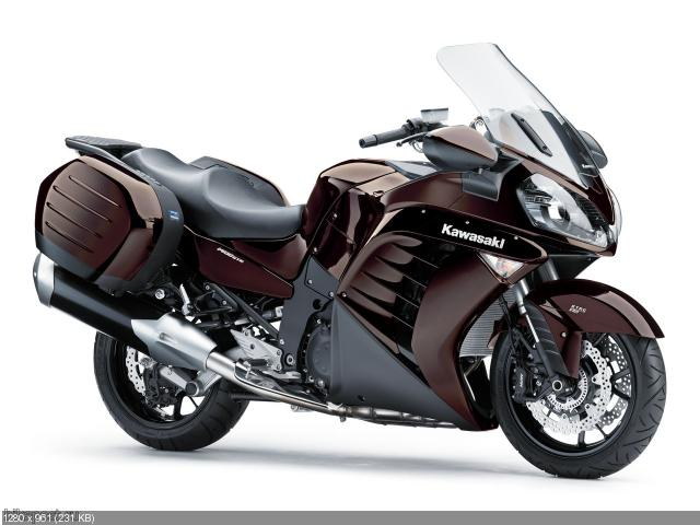 Туристический мотоцикл Kawasaki 1400 GTR.  Просмотреть все записи в Мотоциклы Kawasaki.