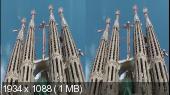 БАРСЕЛОНА 3D ( Творения Антонио ГАУДИ ) Горизонтальная анаморфная