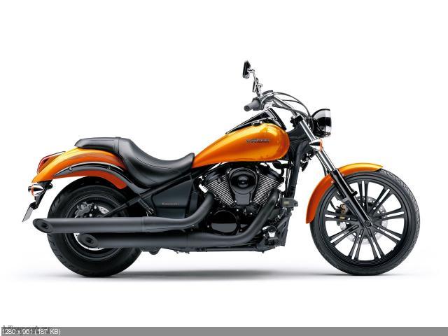 Новые цвета круизеров Kawasaki 2012