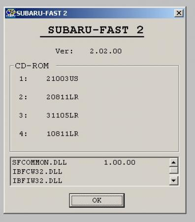 Subaru Fast Eur [ v.2.02.00, Диск 1, ENG, 05/2011 ]