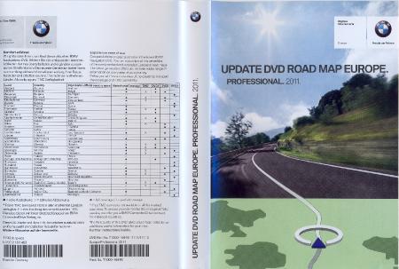 BMW Navigation DVD [ v. 2009Q4, Road map All Europe, Professional, 2011 ]