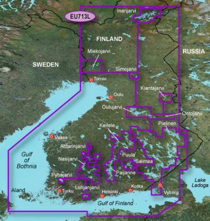 Морские Карты Garmin BlueChart [ v.11.50.g2, vision, VEU713L – Finland, 2011 ]