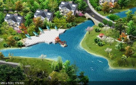 Пейзажи и архитектура китайских мастеров Photoshop'а