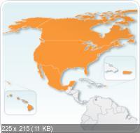Карта Соединенных Штатов, Канады и Мексики для iGO R3 Tomtom 2011.Q3 с map, hnr, premium poi, speedcam