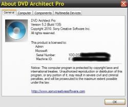 Sony DVD Architect Pro 5.2 Build 135